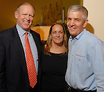 From left: The Houston Chronicle's Jack Sweeney with Linda and Jim McIngvale during a grand opening party at the new Gallery Furniture location at 2411 Post Oak  Wednesday March 11, 2009. (Dave Rossman/For the Chronicle)
