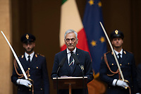 The president of FIGC Gabriele Gravina during the official visit of the football Italy National team, after winning the UEFA Euro 2020 Championship.<br /> Rome (Italy), July 12th 2021<br /> Photo Pool Augusto Casasoli Insidefoto