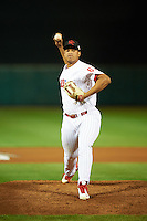 Scottsdale Scorpions pitcher Miguel Nunez (67), of the Philadelphia Phillies organization, during a game against the Glendale Desert Dogs on October 14, 2016 at Scottsdale Stadium in Scottsdale, Arizona.  Scottsdale defeated Glendale 8-7.  (Mike Janes/Four Seam Images)