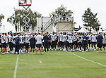 Dallas Cowboys team members in action at the Dallas Cowboys 2012 Training Camp which was held at the Marriott Resident Inn football fields in Oxnard, CA.