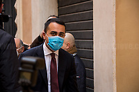 Luigi Di Maio MP (Former Foreign Minister, Five Star Movement).<br /> <br /> Rome, 06/02/2021. Today, the designated Italian Prime Minister - and former President of the European Central Bank -, Mario Draghi, held his third day of consultations at Palazzo Montecitorio, meeting delegations of the Italian political parties in his attempt to form the new Italian Government.