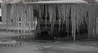 Icicles as Beast from the East weather continues at City of London, London, England on 1 March 2018. Photo by Andy Rowland.
