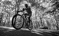 Astana rider under the forest shadow up Monte Ologno (1168m)<br /> <br /> Giro d'Italia 2015<br /> stage 18: Melide (SUI) - Verbania (170km)