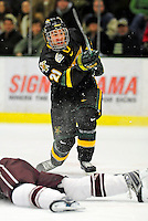 2 January 2009: University of Vermont Catamounts' forward Jack Downing, a Sophomore from New Canaan, CT, in action against the Colgate Raiders during the second game of the 2009 Catamount Cup Ice Hockey Tournament hosted by the University of Vermont at Gutterson Fieldhouse in Burlington, Vermont. The Catamounts defeated the Raiders 6-4 to move onto the championship game against the St. Lawrence Saints...Mandatory Photo Credit: Ed Wolfstein Photo