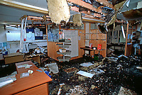 Doctors surgery raided and then burnt down to hide the evidence. This image may only be used to portray the subject in a positive manner..©shoutpictures.com..john@shoutpictures.com