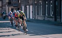 Jack Haig (AUS/Michelton-Scott) & Vincenzo Nibali (ITA/Bahrain-Merida) leading the race in the last local lap<br /> <br /> 82nd Flèche Wallonne 2018 (1.UWT)<br /> 1 Day Race: Seraing - Huy (198km)