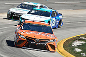Daniel Suarez, Joe Gibbs Racing, Toyota Camry ARRIS, Ryan Newman, Richard Childress Racing, Chevrolet Camaro eBay Motors
