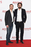 """Michael Fassbender and director, Justin Kurzel<br /> at the """"Assassin's Creed"""" photocall in Claridges Hotel London.<br /> <br /> <br /> ©Ash Knotek  D3211  08/12/2016"""