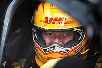 Jan 23, 2009; Chandler, AZ, USA; NHRA funny car driver Jeff Arend during testing at the National Time Trials at Firebird International Raceway. Mandatory Credit: Mark J. Rebilas-