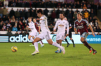 Pictured: Nelson Oliveira (L), the new signing for Swansea Saturday 10 January 2015<br /> Re: Barclays Premier League, Swansea City FC v West Ham United at the Liberty Stadium, south Wales, UK