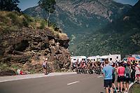 the grupetto up the final climb of the day (in Spain!): the Col du Portillon (Cat1/1292m)<br /> <br /> Stage 16: Carcassonne > Bagnères-de-Luchon (218km)<br /> <br /> 105th Tour de France 2018<br /> ©kramon