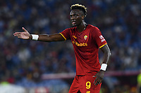 12th September 2021; Olympic Stadium, Rome, Italy, Serie A championship football, Roma versus Sassuolo ; Tammy Abraham of AS Roma reacts to a poor ball
