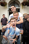 """© Joel Goodman - 07973 332324 . 22/08/2014 .  Manchester , UK . Top to bottom: Brian Dolan (27 from Weaste) , James Corcoran (20 from Harpurhey) and John Wayne (20 from Ancoats) . Manchester Pride """" Big Weekend """" in Manchester's """" Gay Village """" today ( 22nd August 2014 ) . Photo credit : Joel Goodman"""