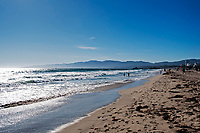 A sunny day at Venice Beach, California.