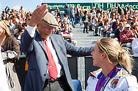 15-09-12, Netherlands, Amsterdam, Tennis, Daviscup Netherlands-Suisse, Opa Scheer and Esther Vergeer