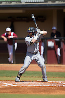 Chris McGowan (7) of the Kennesaw State Owls at bat against the Winthrop Eagles at the Winthrop Ballpark on March 15, 2015 in Rock Hill, South Carolina.  The Eagles defeated the Owls 11-4.  (Brian Westerholt/Four Seam Images)