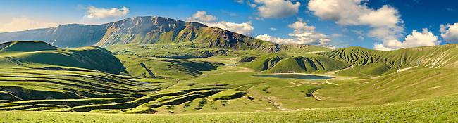 Inside the extinct volcanic crater of Mount Nemrut, Tatavan,  Lake Van Turkey