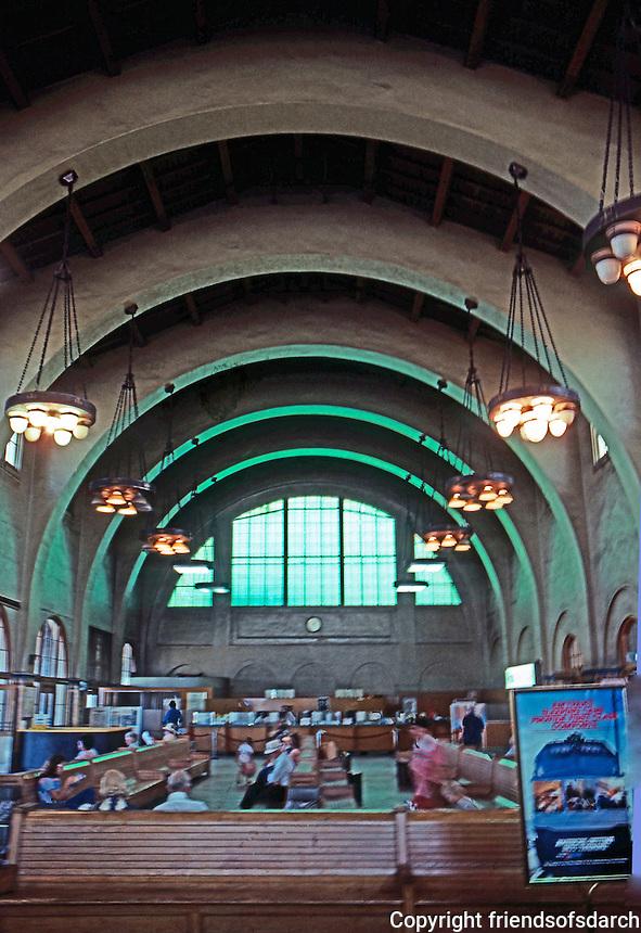 Mission RR Stations: Santa Fe Depot, San Diego--Interior.  (Photo '80)