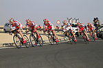 Katusha Team in action during the 2nd Stage of the 2012 Tour of Qatar an 11.3km team time trial at Lusail Circuit, Doha, Qatar. 6th February 2012.<br /> (Photo Eoin Clarke/Newsfile)
