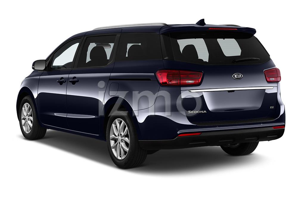 Car pictures of rear three quarter view of 2019 KIA Sedona EX 5 Door Minivan Angular Rear