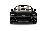 Car photography straight front view of a 2017 Mazda MX-5 Miata Grand Touring 2 Door Convertible Front View