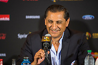Orlando, Florida - Saturday, June 04, 2016: Paraguayan manager Ramon Diaz speaks to the press after their 0-0 draw during a Group A Copa America Centenario match between Costa Rica and Paraguay at Camping World Stadium.