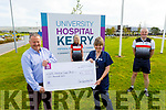 The Chain Gang Cycling Club presenting €4,000 to the ICU at UHK to Margaret Griffin (Clinicial Nurse Manager).<br /> Front l to r: John Murray (Chairman) and Margaret Griffin (Clinicial Nurse Manager).<br /> Back  l to r: Avril Hewitt and Dave Elton.