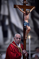 Pope Francis  Good Friday Passion in Saint Peter's Basilica at the Vatican.April 19, 2019