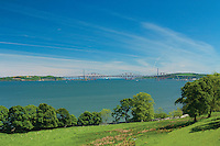 The Firth of Forth and Forth Rail Bridges from Hopetoun House and Gardens near Queensferry, Lothian
