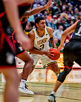 16 December 2018: University of Vermont Catamount Forward Anthony Lamb, a Junior from Toronto, Ontario, in first half action against the Northeastern University Huskies at Patrick Gymnasium in Burlington, Vermont. The Catamounts defeated the Huskies 75-70 in NCAA Division I America East play. Mandatory Credit: Ed Wolfstein Photo *** RAW (NEF) Image File Available ***
