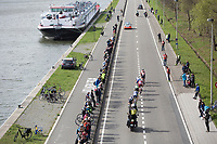 Early breakaway group with canal passage on the local laps in Schoten<br /> <br /> 105th Scheldeprijs 2017 (1.HC)<br /> 1day race: Mol > Schoten 200km