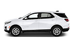 Car Driver side profile view of a 2022 Chevrolet Equinox LT 5 Door SUV Side View