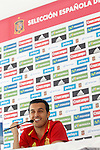 Spain's Pedro Rodriguez in press conference during preparing training stage to Euro 2016. May 30,2016.(ALTERPHOTOS/Acero)