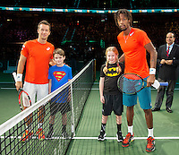 Rotterdam, The Netherlands, February 13, 2016,  ABNAMROWTT, Philipp Kohlschreiber (GER), Gael Monfils (FRA)<br /> Photo: Tennisimages/Henk Koster