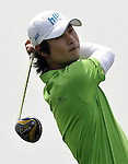 SUZHOU, CHINA - APRIL 17:  Kim Dae-hyun of Korea tees off on the 2nd hole during the Round Three of the Volvo China Open on April 17, 2010 in Suzhou, China. Photo by Victor Fraile / The Power of Sport Images