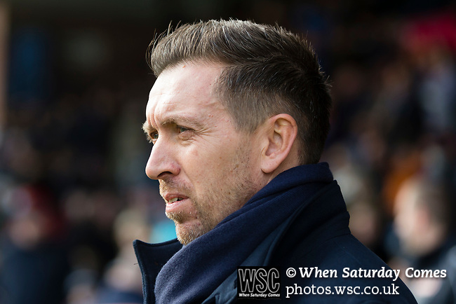 Darren Currie Manger of Barnet. Stockport County v Barnet, 07032020. Edgeley Park, National League. Photo by Paul Thompson.