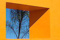 Bright Mexican architecture in the mid-day sun.