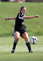 BOYDS, MARYLAND - July 22, 2012:  Holly King (16) of DC United Women makes a pass against the Charlotte Lady Eagles during the W League Eastern Conference Championship match at Maryland Soccerplex, in Boyds, Maryland on July 22. DC United Women won 3-0.