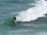 BNPS.co.uk (01202 558833)<br /> Pic: OtterSurfboards/MattArney/BNPS<br /> <br /> Pictured: The boards being used in the Cornish surf. <br /> <br /> Surf's up...<br /> <br /> The demand for sustainable wooden surfboards is on the rise - great news for carpenter James Otter who spends up to 80 hours on one of his beautiful handcrafted boards.<br /> <br /> James' company Otter Surfboards is the leading maker of wooden surfboards in the UK, if not Europe.<br /> <br /> He sources all his wood directly from woodlands in the south west and customers can even spend five days in his Cornish workshop learning how to make their own board.