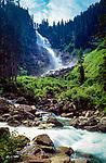 Oesterreich, Salzburger Land, Krimml, Krimmler Wasserfaelle | Austria, Salzburger Land, Krimml, Krimmler Waterfalls