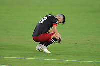 WASHINGTON, DC - AUGUST 25: Felipe Martins #18 of D.C. United at the end of the match during a game between New England Revolution and D.C. United at Audi Field on August 25, 2020 in Washington, DC.