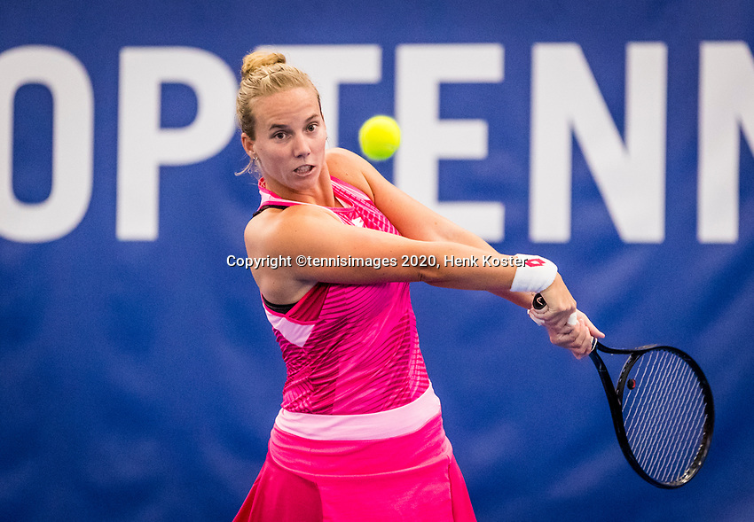 Amstelveen, Netherlands, 16  December, 2020, National Tennis Center, NTC, NK Indoor, National  Indoor Tennis Championships, :  Richel Hogenkamp (NED) <br /> Photo: Henk Koster/tennisimages.com