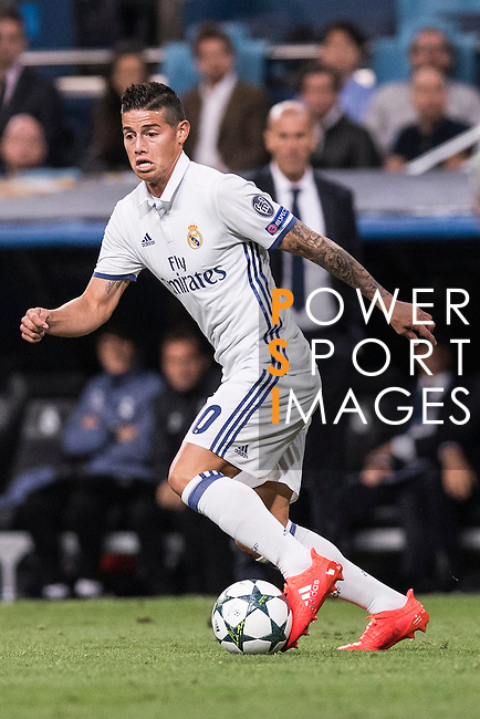 James Rodriguez of Real Madrid in action during their 2016-17 UEFA Champions League match between Real Madrid vs Sporting Portugal at the Santiago Bernabeu Stadium on 14 September 2016 in Madrid, Spain. Photo by Diego Gonzalez Souto / Power Sport Images