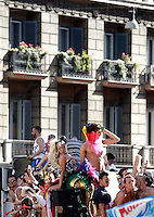 Un momento del Gay Pride, Roma, 23 giugno 2012..Demonstrators take part in the Gay Pride in Rome, 23 june 2012..© Riccardo De Luca