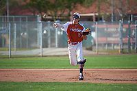 Turner Symonds (15) of Fort Worth Country Day School in Fort Worth, Texas during the Baseball Factory All-America Pre-Season Tournament, powered by Under Armour, on January 14, 2018 at Sloan Park Complex in Mesa, Arizona.  (Art Foxall/Four Seam Images)