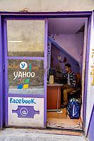 Cyber Cafe, Meknes, Morocco.