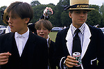 PUPILS OF ETON PUBLIC SCHOOL WITH BEER CANS ON THE SCHOOL'S 550TH ANNIVERSARY., 1990