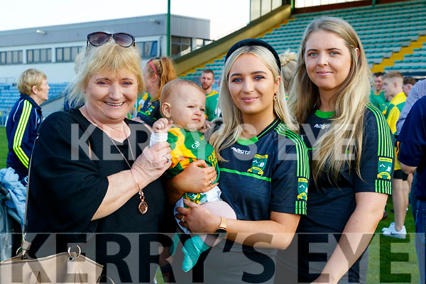 Annette, Sean Óg and Marianne Nolan with Niamh Carmody, Kilmoyley supporters pictured at the Senior Hurling Final at Austin Park, Tralee on Sunday last.