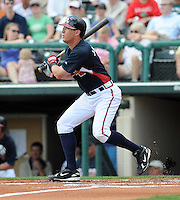 15 March 2009: Second baseman Kelly Johnson (2) of the Atlanta Braves hits in a game against the Houston Astros at the Braves' Spring Training camp at Disney's Wide World of Sports in Lake Buena Vista, Fla. Photo by:  Tom Priddy/Four Seam Images