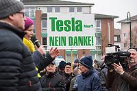 2020/01/25 Brandenburg | Grünheide | Protest gegen Tesla
